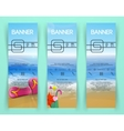 beach landscape Banners vector image vector image