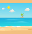 beach travel holiday vacation beautiful seascape vector image vector image
