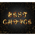 best choice gold sign on black background vector image vector image
