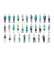 big set a lot of people bundle in line crowd many vector image vector image