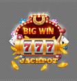 big win lottery casino isolated on transparent vector image