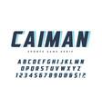 caiman trendy sans serif sports typeface font vector image