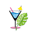 coctail label vector image vector image