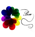 colorful heart background vector image