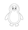 colorless funny cartoon penguin vector image vector image