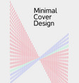 cover design with abstract lines vector image