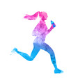 creative concept the girl runs with water vector image
