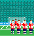 Croatia Soccer Club Penalty on a Stadium vector image vector image