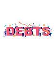 debts typography banner template flat vector image vector image