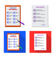 design of form and document sign set of vector image vector image
