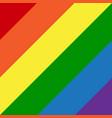 diagonal lgbt rainbow flag gay colors vector image vector image