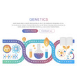 dna genetics and bioengineering research vector image