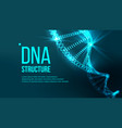 dna structure evolution symbol chemistry vector image vector image