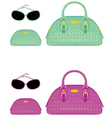 female bags beauticians and sun glasses vector image vector image