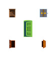 flat icon door set of frame entry approach and vector image vector image