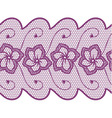 Flower lace seamless border vector image