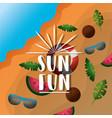 fun summer vacation vector image