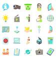 geek icons set cartoon style vector image vector image
