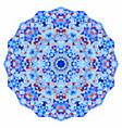 geometric mandala mosaic banner vector image vector image