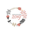 greeting happy new year vector image