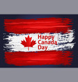 happy canada day holiday celebrate card vector image