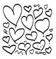heart hand drawn sketch doodle line love vector image