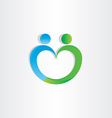 heart shape people icon vector image vector image