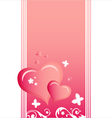 Heart Valentines Day background or card vector image vector image