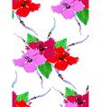 Hibiscus pattern4 vector image vector image