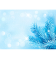Holiday blue background with tree branches and vector image vector image