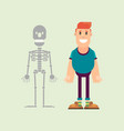 human and skeleton vector image vector image