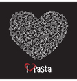 icon of pasta vector image vector image