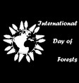 international day of forests vector image vector image