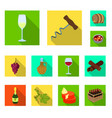 isolated object farm and vineyard icon set of vector image