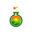 lab farm logo icon design vector image