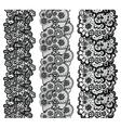 Lacy vintage trims Set of black lacy vintage vector image vector image