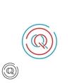 Letters initials QQ logo monogram combination two vector image