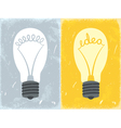 Lightbulb with idea vector image vector image