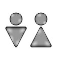 male and female sign icon vector image vector image