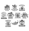 mexican cuisine icons for restaurant vector image vector image