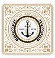 Nautical the anchor retro card vector image vector image