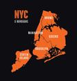 NYC 5 Boroughs vector image