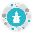 of weather symbol on snowman vector image vector image