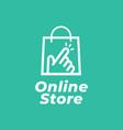 online shop logo for business vector image vector image