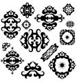 Ornament elements vector image