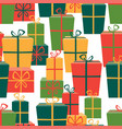 pattern of the gifts boxes vector image