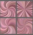 Pink spiral and starburst background set vector image vector image