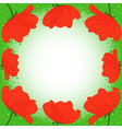 Postcard with several red poppies vector image vector image