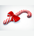 realistic candy cane vector image