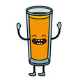 refreshing tasty juice cartoon vector image